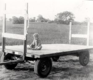 boy on his wagon